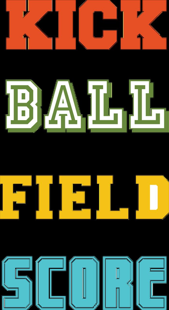 Soccer Words SVG Cut File