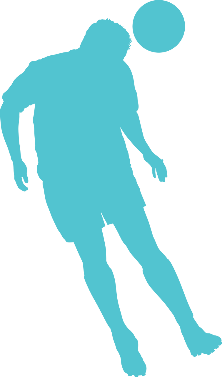Soccer Silhouette SVG Cut File