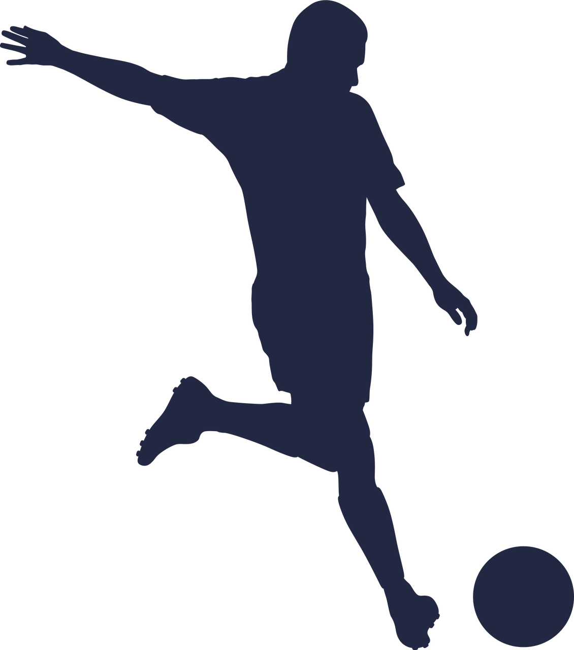 Soccer Silhouette #3 SVG Cut File