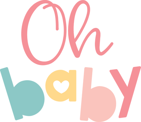 Oh Baby SVG Cut File - Snap Click Supply Co.