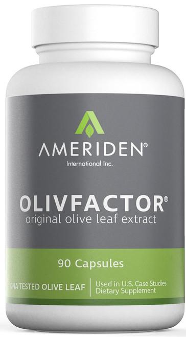 Olivfactor supplement front label packaging