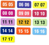 Color Code Year Labels