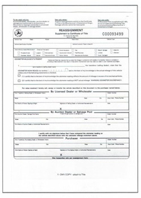 Reassignments Supplemental to Certificate of Title Rev 09/20