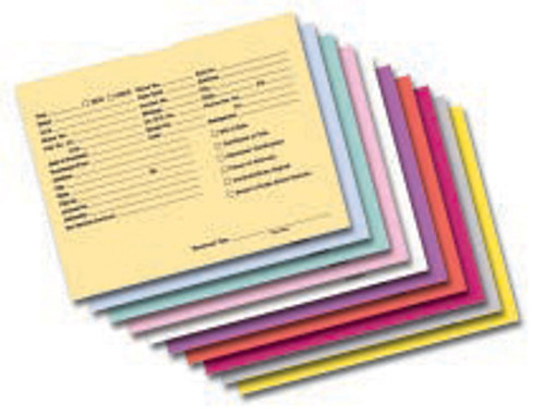 Heavy duty envelopes with thumb indentions for easy opening.  Perfect for distinguishing between cars, trucks, used, new, years etc. with the wide variety of colors.  All pertinent information is printed right on the front in black ink for easy retrieval.  Available in Buff, White, Pink, Green, Fuchia, Lavendar, Salmon and Blue  Boxes of 500  Quantity Discount at 2 boxes