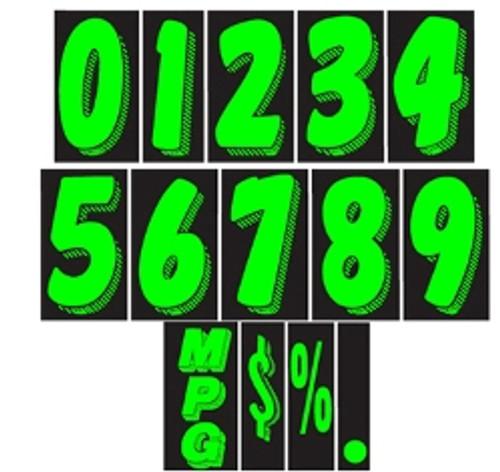 7 1/2 Adhesive Numbers