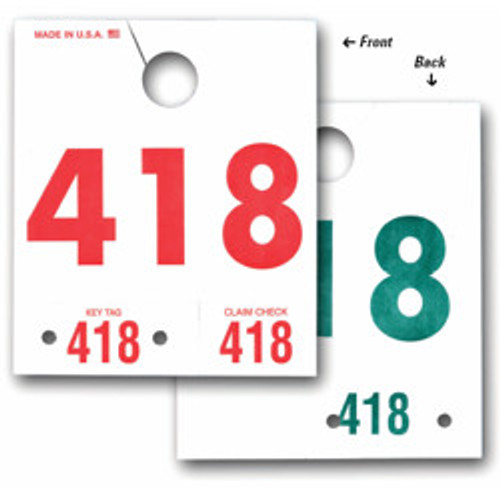 Service Number Hang Tags - 3 Digit