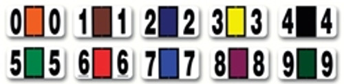 Color-Coded Numbers - Roll