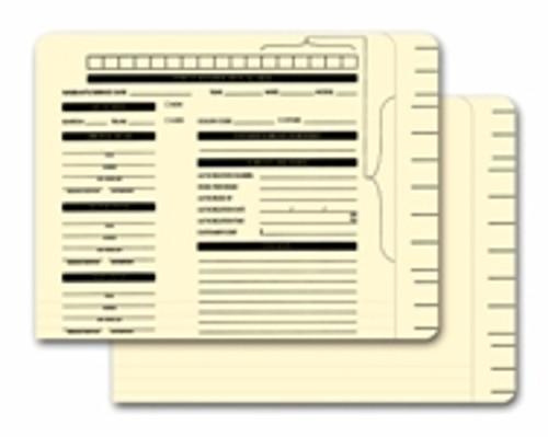 Color-Code File Folders - Printed
