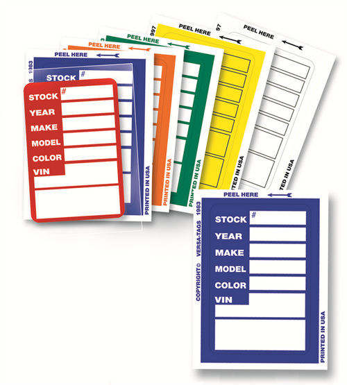 Windshield Stock Tags