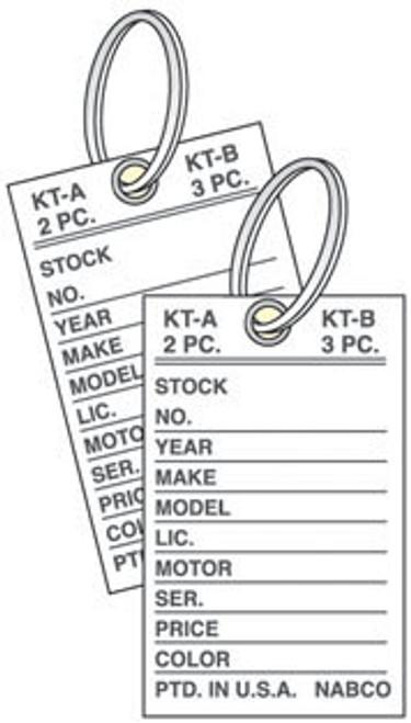 Card Stock Key Tag