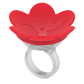 ZUMMR Hummingbird Ring -RED