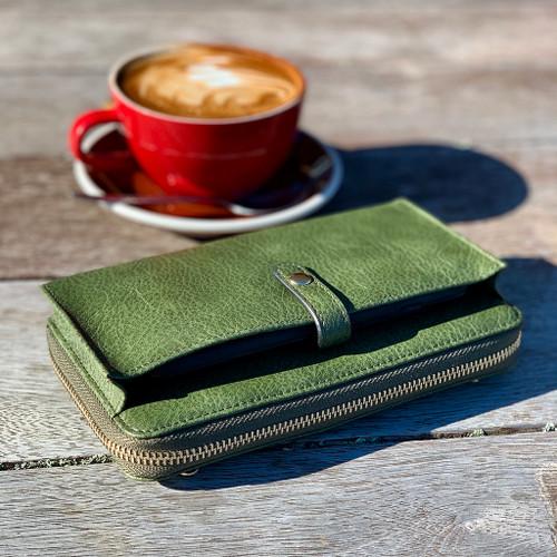 Fitzroy Ladies wallet, Moana Rd, green.