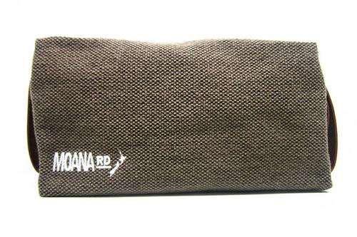 Men's canvas toilet bag, Maoan Rd, brown.
