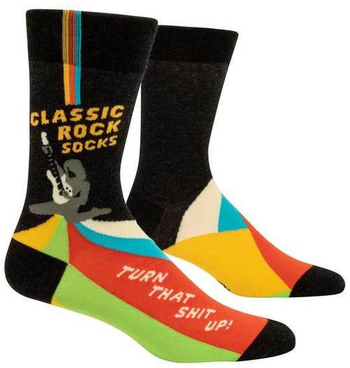 Blue Q men's socks, Classic rock.