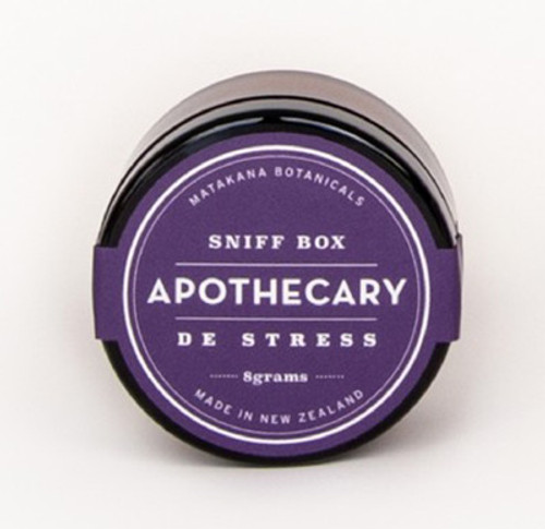 sniff box, de-stress formula, matakana botanicals, made in NZ,