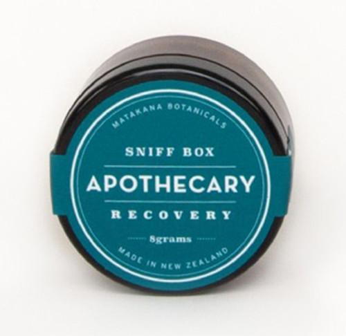 Sniff box, recovery formula, matakana botanicals, made in NZ,