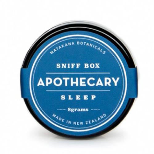 Sniff box, sleep formula, matakana botanicals, made in NZ,