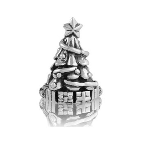 Sterling silver christmas tree charm from Evolve New Zealand.