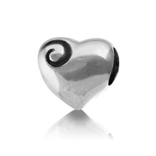 Sterling silver aotearoa's heart charm from Evolve New Zealand.