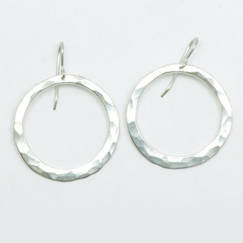 silver pirori hoop earrings, hand made in NZ, Justin Ferguson,