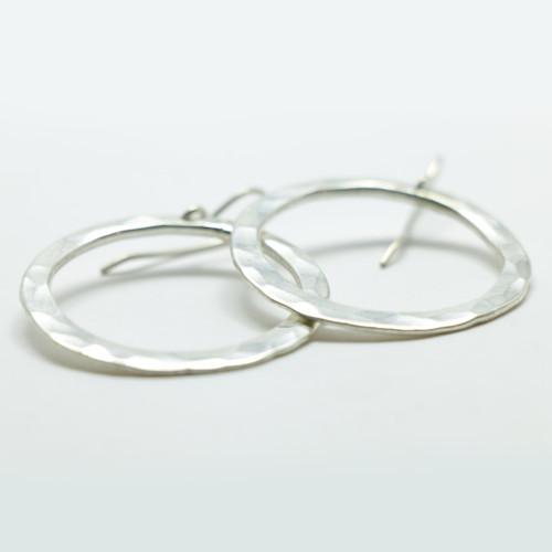 silver hoop earrings, made in NZ, Justin Ferguson,