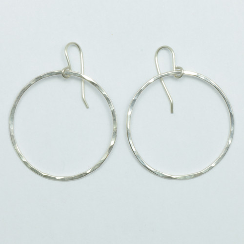 sterling silver, pirori hoop earrings, Justin Ferguson, made in NZ,