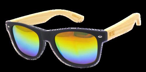 Moana Rd sunglasses, polarised lenses, 50/50s, rainbow reflective lense,
