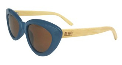 Moana Rd sunglasses, polarised lenses, Bette Davis, blue,