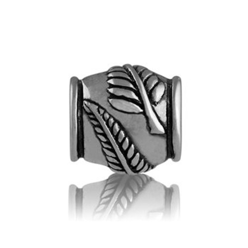 Sterling silver silver fern charm from Evolve New Zealand.