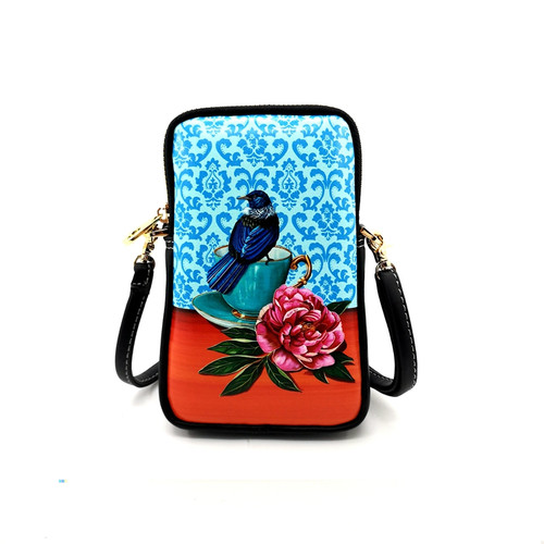 leather cell phone bag, nz artists, Angie Dennis, tui,