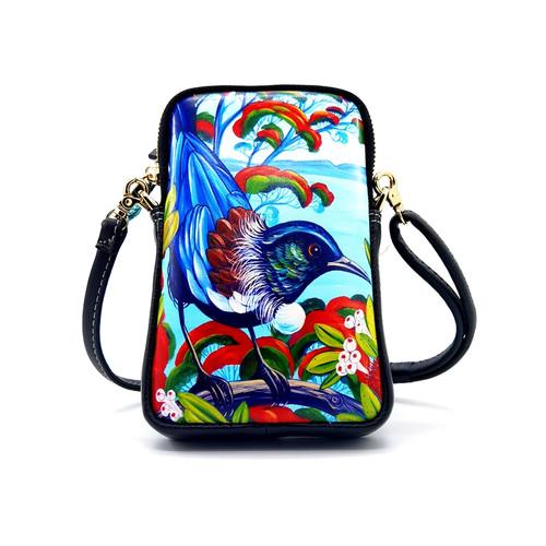 leather cell phone bag, nz artists, Irina Velham, tui,
