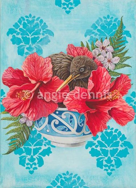 A4 art print, unframed, Angie Dennis, NZ artist, Identity,