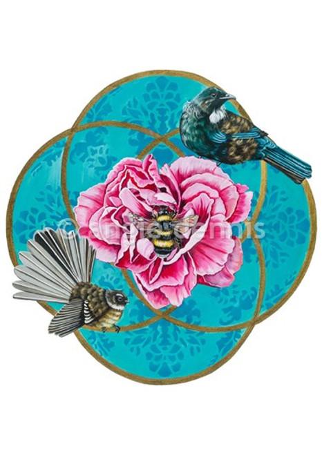 A4 art print, unframed, Angie Dennis, NZ artist, Its All About Bee,