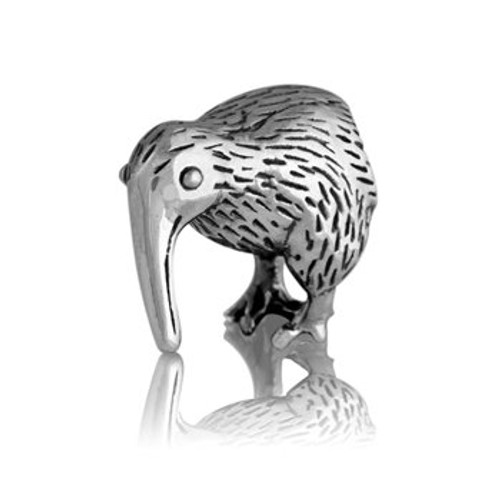 Sterling silver kiwi charm from Evolve New Zealand.