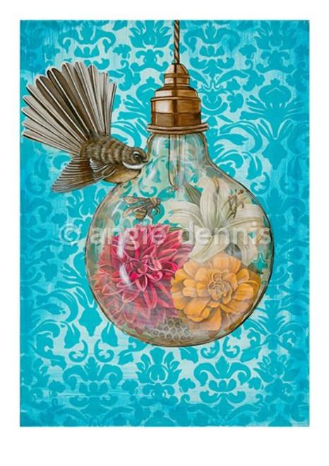 A4 art print, unframed, Angie Dennis, NZ artist, The Moment,