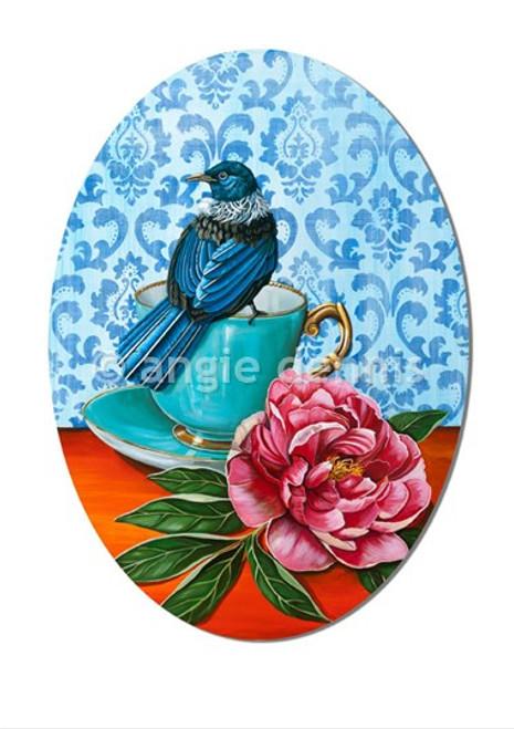 A4 art print, unframed, Angie Dennis, NZ artist, Nest,