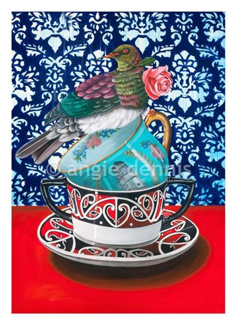 A4 art print, unframed, Angie Dennis, NZ artist, Keep Your Pants On,