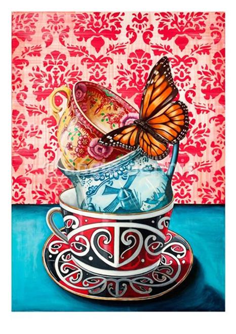Descendents Of, A4 art print, unframed, Angie Dennis, NZ artist,