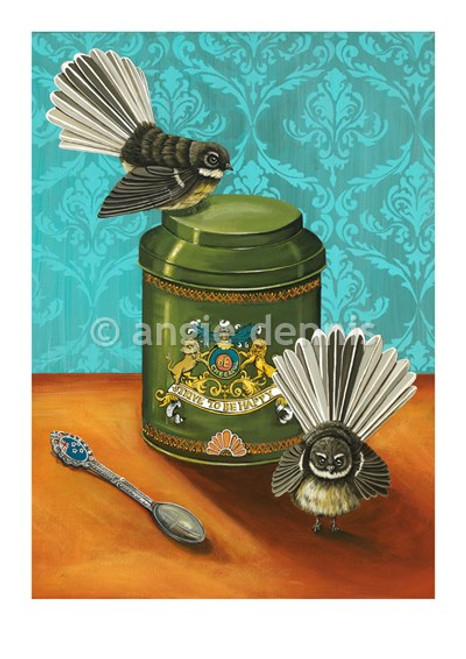 A4 art print. unframed, Angie Dennis, NZ artist, Strive to be Happy,