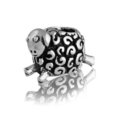 Sterling silver woolly sheep charm from Evolve New Zealand.