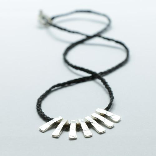 Silver Toki necklace, Justin Ferguson.