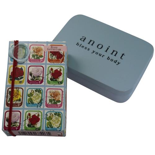 Rose geranium lotion bar and tin set, Anoint Skincare,