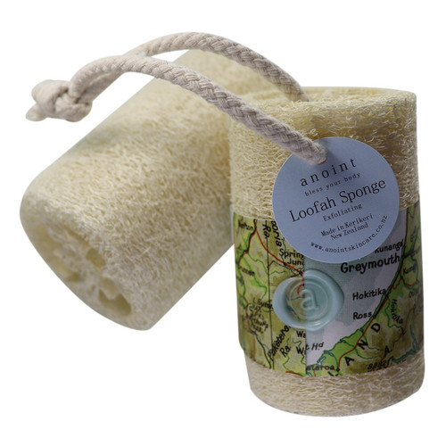 Natural loofah sponge, Anoint Skincare,