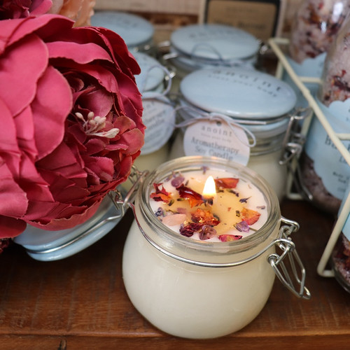 Aromatherapy soy candle, Anoint Skincare,