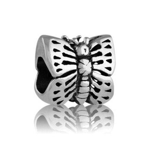 Sterling silver monarch butterfly charm from Evolve New Zealand.