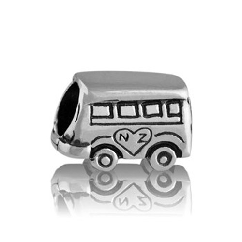 Sterling silver combi van charm from Evolve New Zealand.