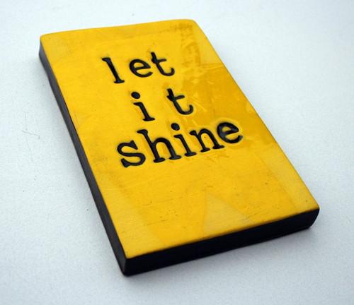 Yellow ceramic wall tile, let it shine,