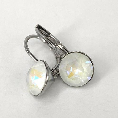 Light grey delite coloured silver swarovski crystal loops, Isa Dambeck.