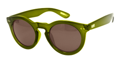 Grace Kelly sunglasses, olive frames and arms, Moana Rd.