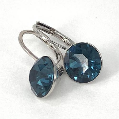 Montana coloured silver swarovski crystal loops from Isa Dambeck.